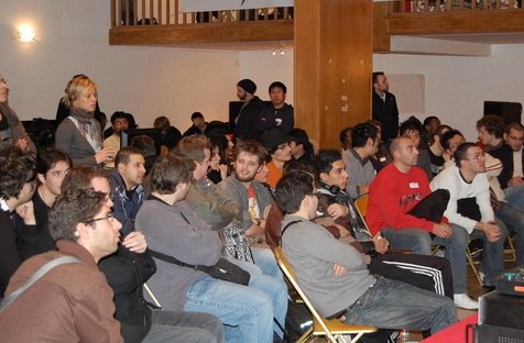 Public pour regarder la diffusion des matchs sur grand écran
