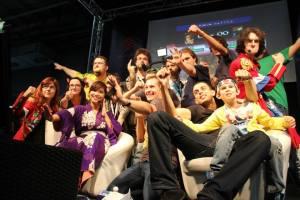 Ze Happy Geek Show au Paris Manga 2013 feat Bob Lennon, Benzaie, Antoine Daniel, Marcus, Joueur du Grenier et Sébastien, Nyo, Genius, Asenka, Koga et des personnes du public :)
