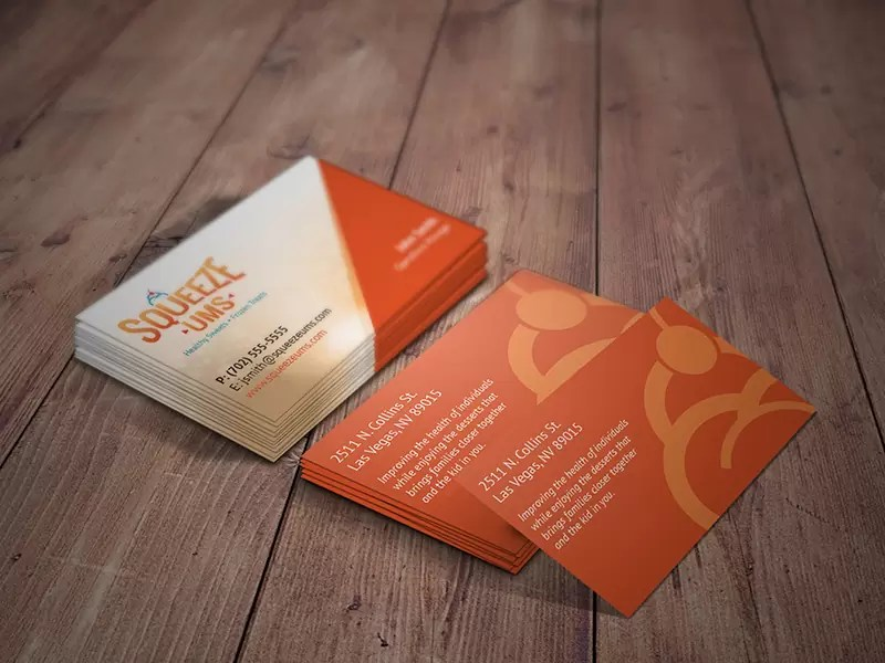Squeeze-Ums Business cards