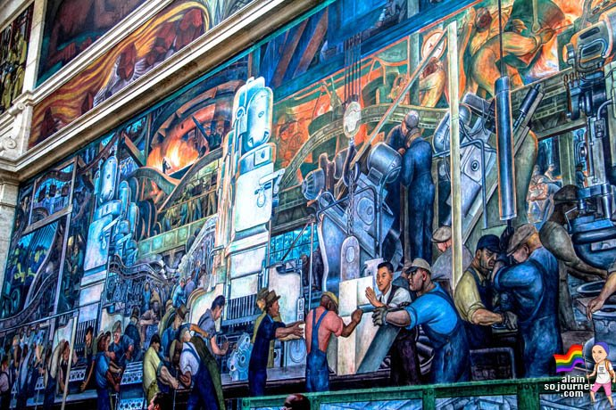 Diego rivera murals at detroit institute of arts for Detroit industry mural