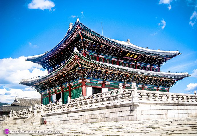 Gyeongbokgung Palace in Seoul is the first imperial palace of South Korea.