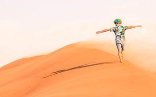 Froclicking in Al Desert, UAE.