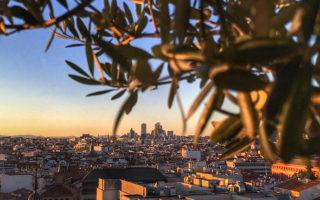 Madrid Sunset from Circulo de Bellas Artes.