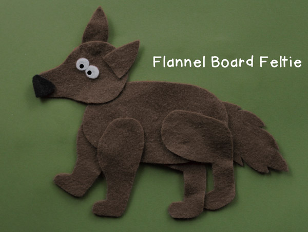 FREE wolf pattern for flannel board