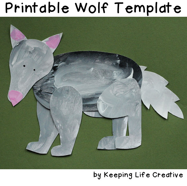 FREE printable wolf template