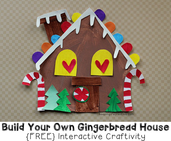 Printable Gingerbread House Craft Template