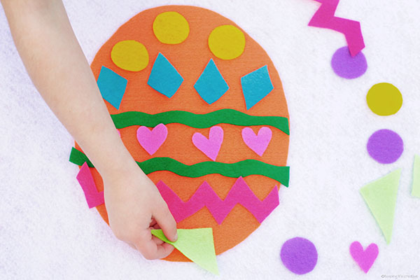 Printable Easter Egg Craft Template for art project or busy bag