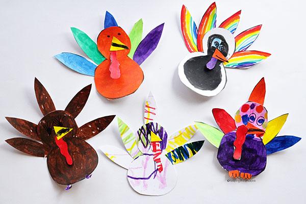 turkey-template-colorful-turkeys