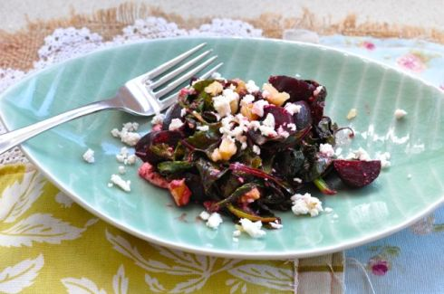 beetroot salad finished
