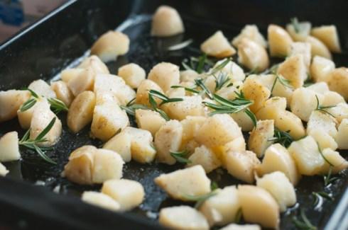 crispy cubed potatoes