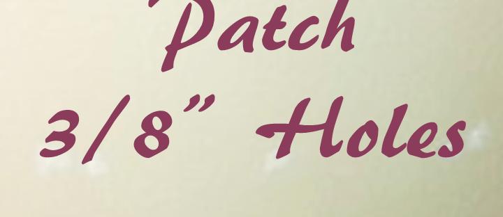 patch holes