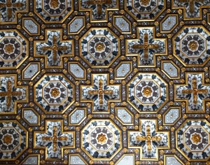 A very small section of the ceiling.
