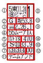 過去レース成績説明図