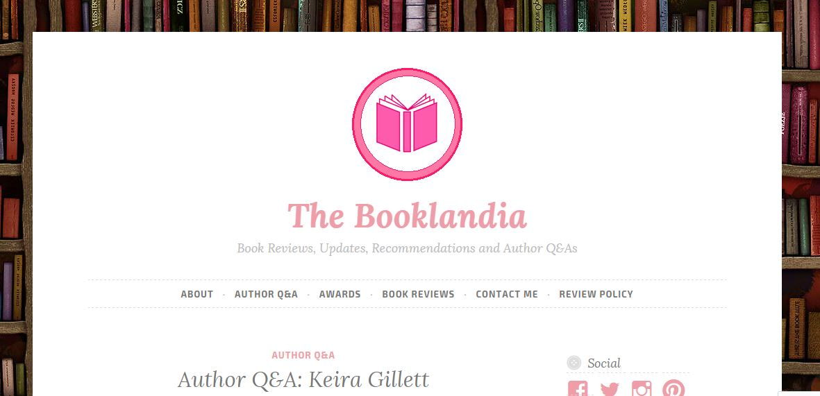 Blog Tour Stop: Author Q&A at The Booklandia
