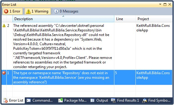.NET 4.0 Client Profile Assembly Error