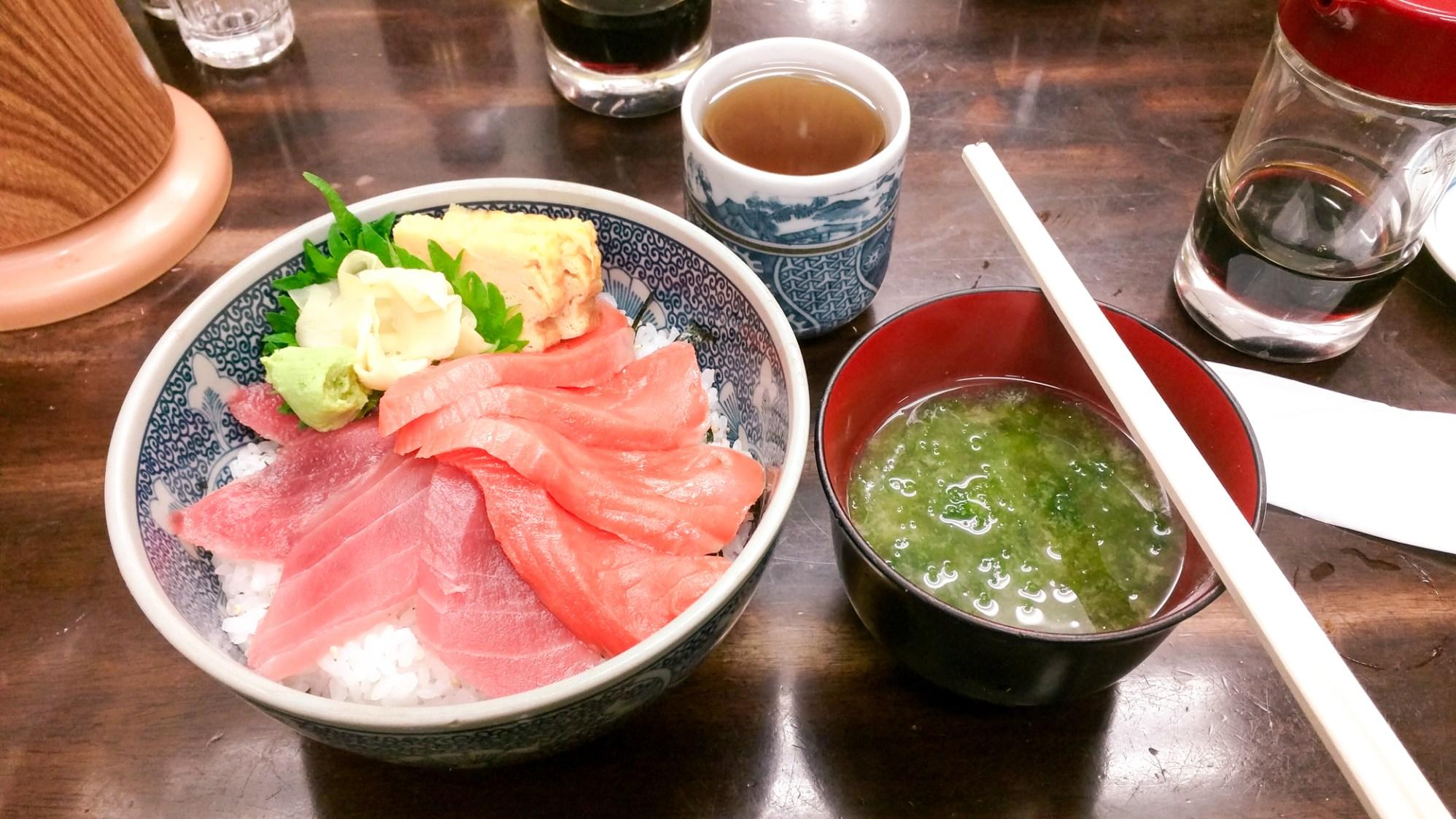 Ander's seafood bowl from Tsukiji Fish Market