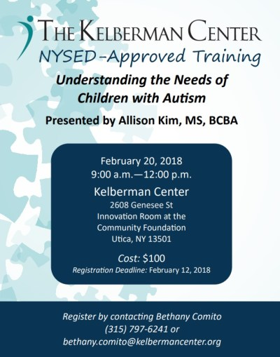 NYSED-Approved Training - The Kelberman Center