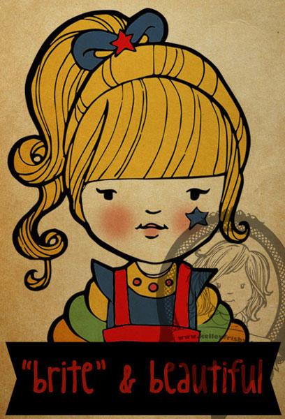 """Kelley Frisby illustration 80s fan art """"Rainbow Brite"""""""