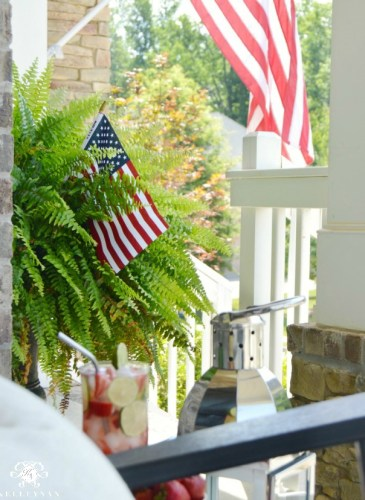 Red, White, and Blue Front Porch for the Fourth of July
