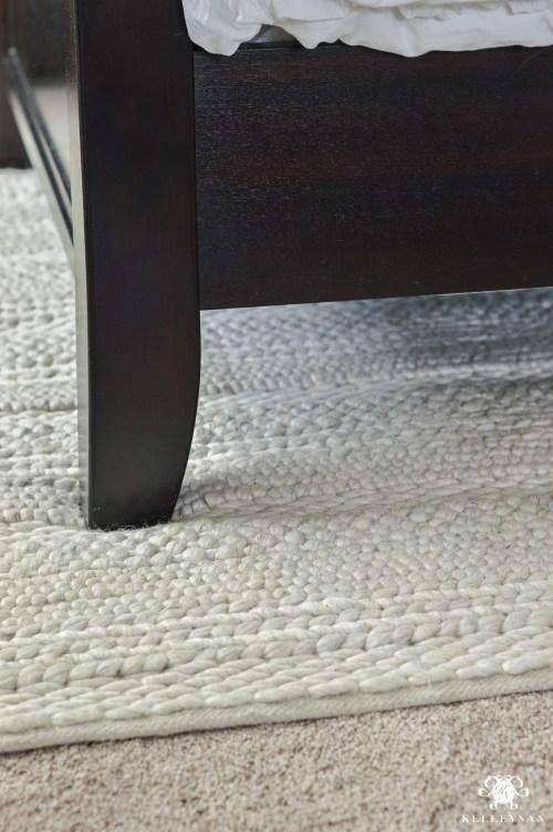 Medium Of Rug Under Bed