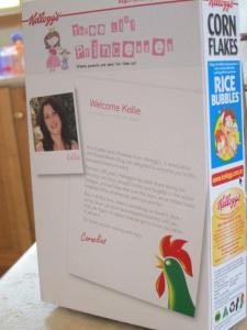 personalised Kelloggs Corn Flakes box