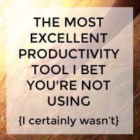 The really excellent productivity tool I bet you're not using