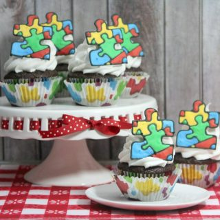 Autism Ribbon Cupcakes Recipe