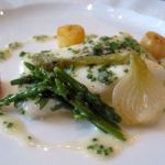 Poached Turbot