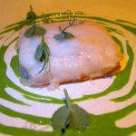 Crab Melt Californian Style: Steffan's Lardo, Wheatgrass