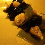 Geoduck and Manila, bull kelp, meyer lemon, wild fennel