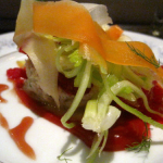 Crab & Carrot Salad, blood orange, fennel, citrus gastrique
