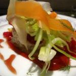 Crab & Carrot Salad, blood orange, fennel, citrus gastrique