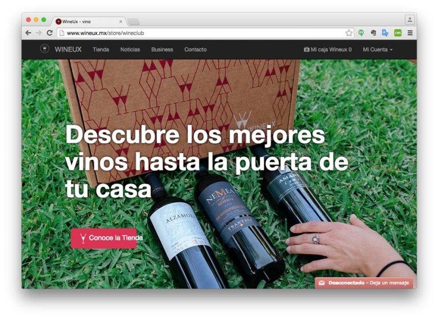 Landing page de Wineux