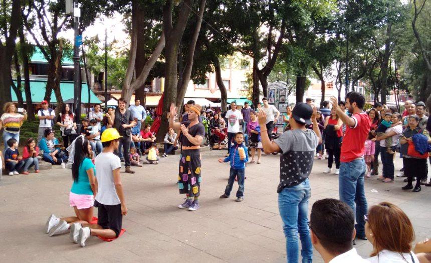 Show de un payaso francés en Coyoacán