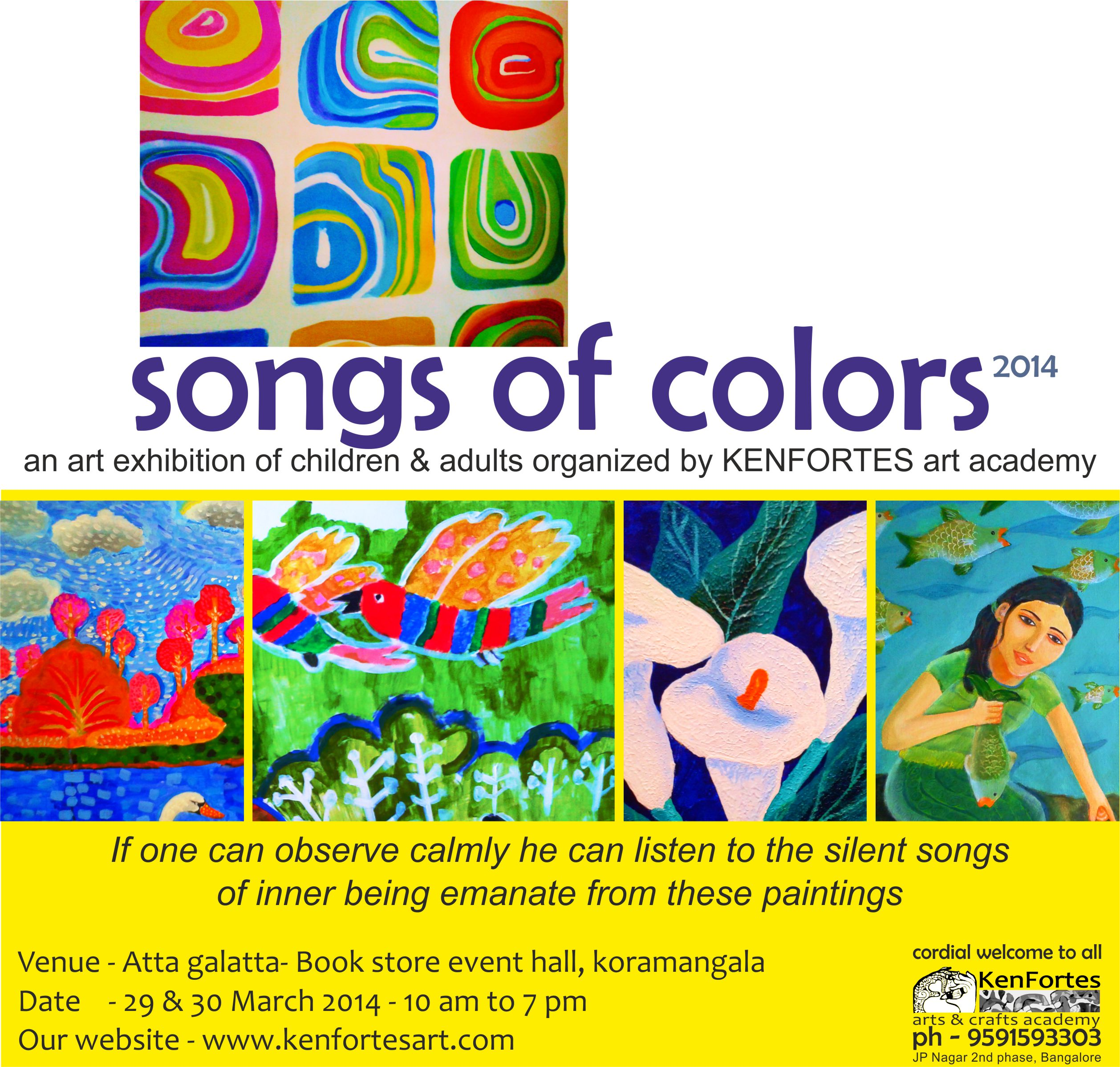 Songs of colors 2014 art exhibition
