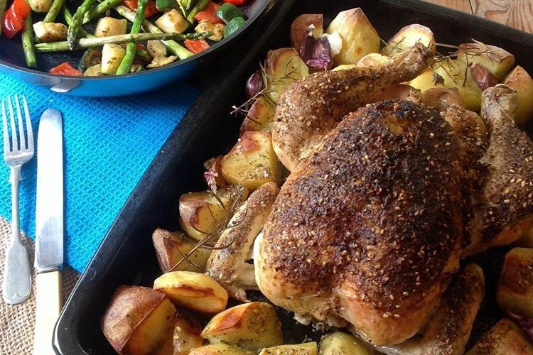 Lemon and Za'atar Roast Chicken