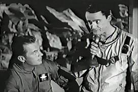 Robert Vaughn (right) in Men Into Space