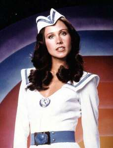 Erin Gray as Wilma Deering in Buck Rogers in the 25th Century.