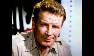 Richard Basehart as Admiral Nelson in Voyage to the Bottom of the Sea