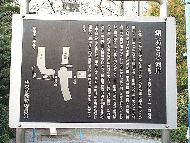 The location of Shigakukan in Tokyo is marked with this sign