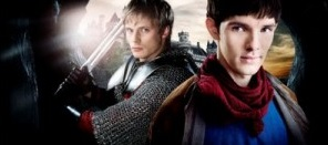 Arthur and Merlin played by Bradley James and Colin Morgan © BBC