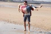 BLAKE HARRISON (Alfie) holding JUSTINE CAIN (Carly) on Margate beach