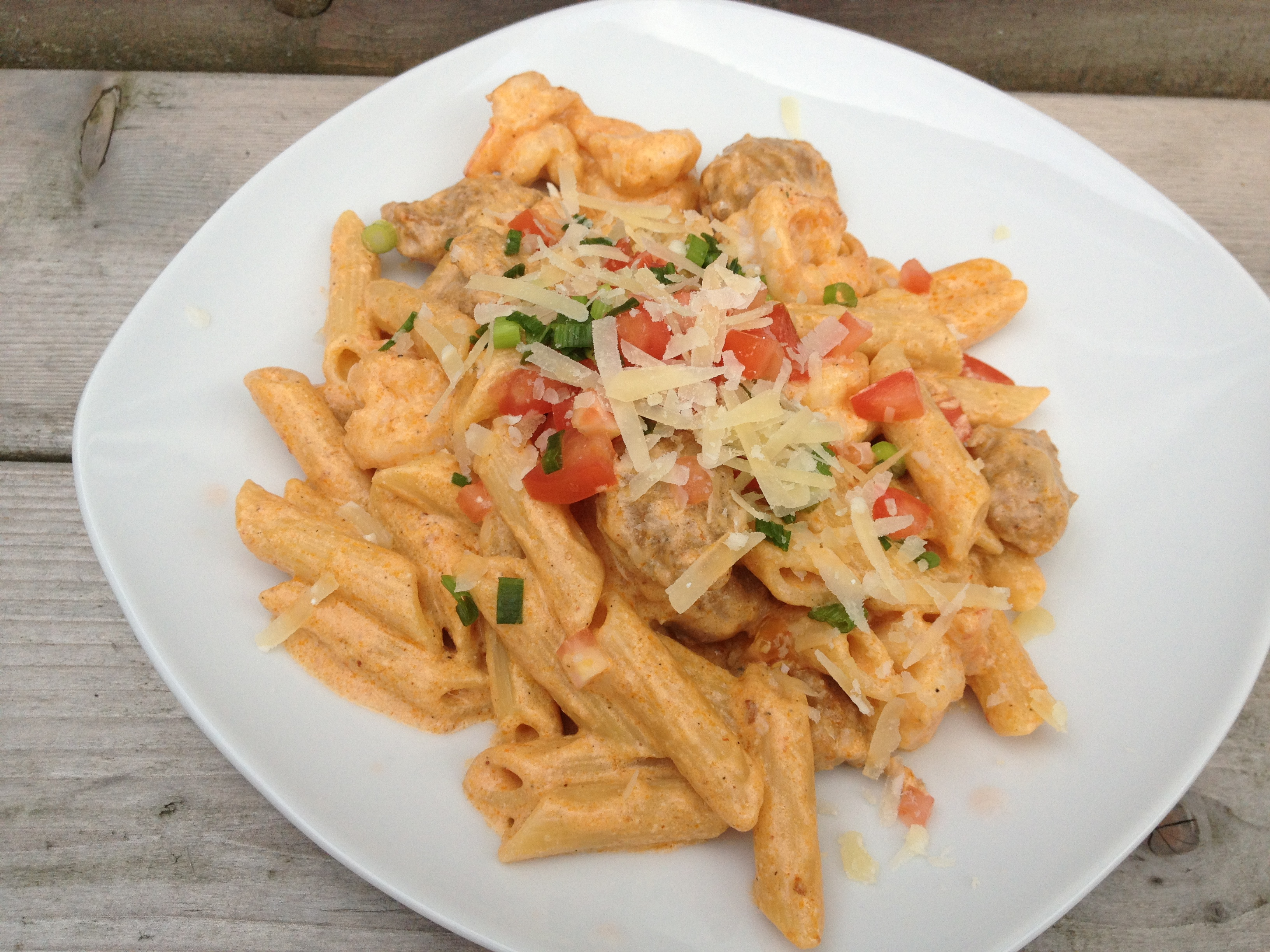 Cajun penne pasta with chicken recipe