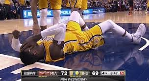 Was it a foul by LeBron James that cause the dizzying downward spiral Roy Hibbert is enduring?