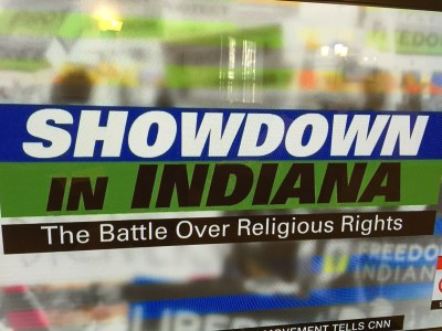 "Specials like ""Showdown in Indiana - the Battle over Religious Rights"" on CNN aired all over national TV last night, and they threaten a hard-earned reputation of Indiana as a welcoming state."