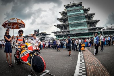 Red Bull Indianapolis Grand Prix winner Marc Marquez on the grid prior to Sunday's race. (Photo courtesy of Indianapolis Motor Speedway)