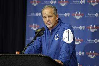 Chuck Pagano's talks with the media have become strained and strange, and yesterday was among the strangest.