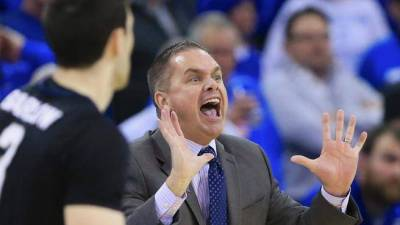 Butler coach Chris Holtmann would like to avoid looking like this tonight as the Bulldogs host Georgetown.