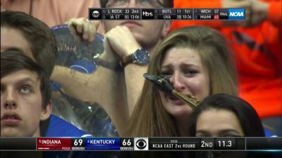 The weeping sax player is the lasting image of Indiana's defeat of Kentucky in the round of 32 yesterday.