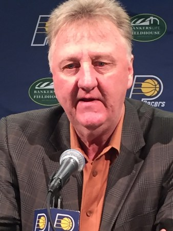 Larry Bird announces Frank Vogel will not return as coach of the Indiana Pacers.